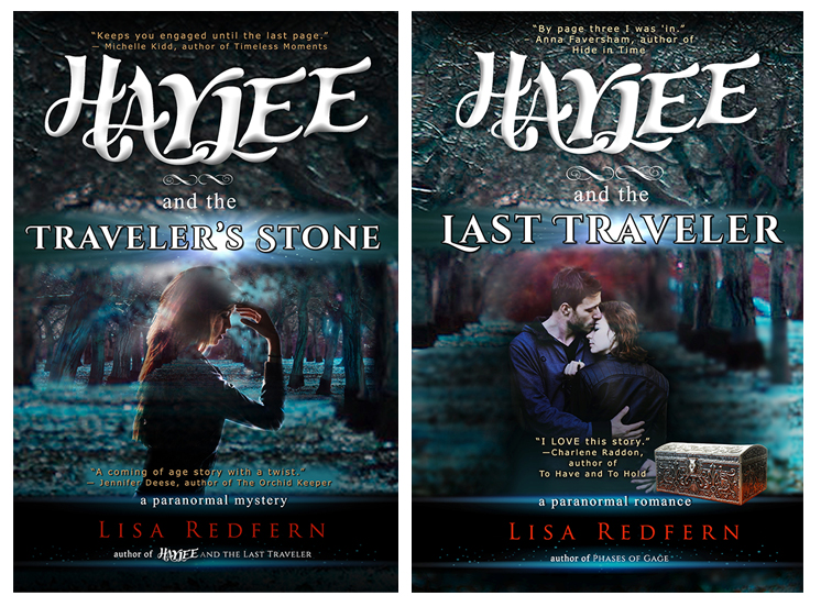 Haylee and the Traveler's Stone and Haylee and the Last Traveler - paranormal book cover designs.