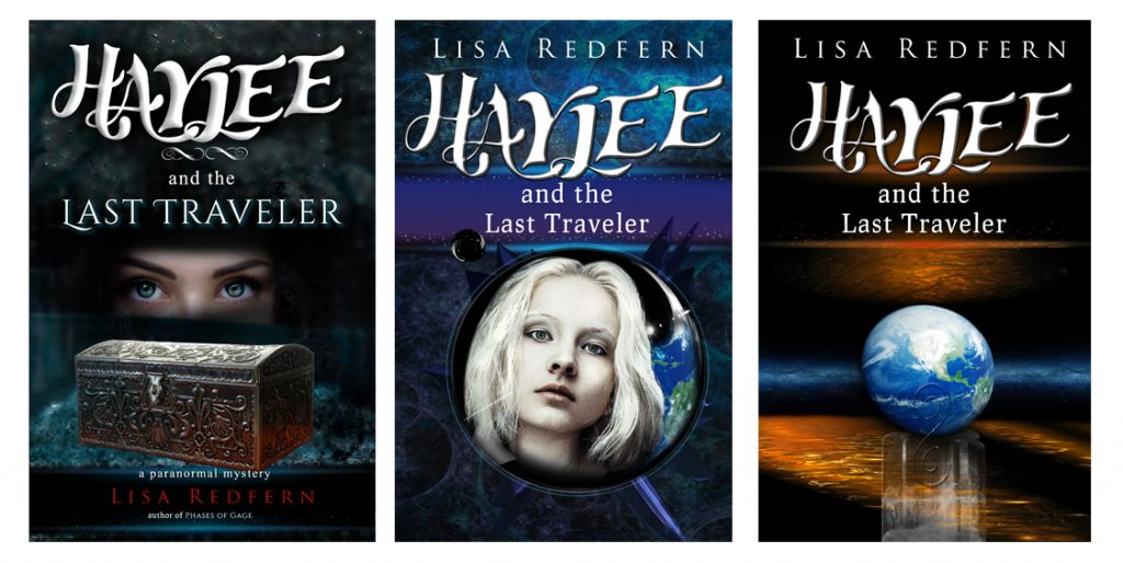 Evolution of Haylee and the Last Traveler book covers.