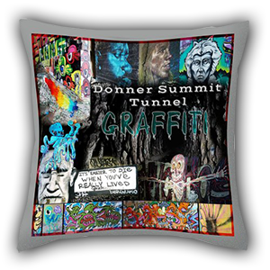 pillow showing art produced on home products